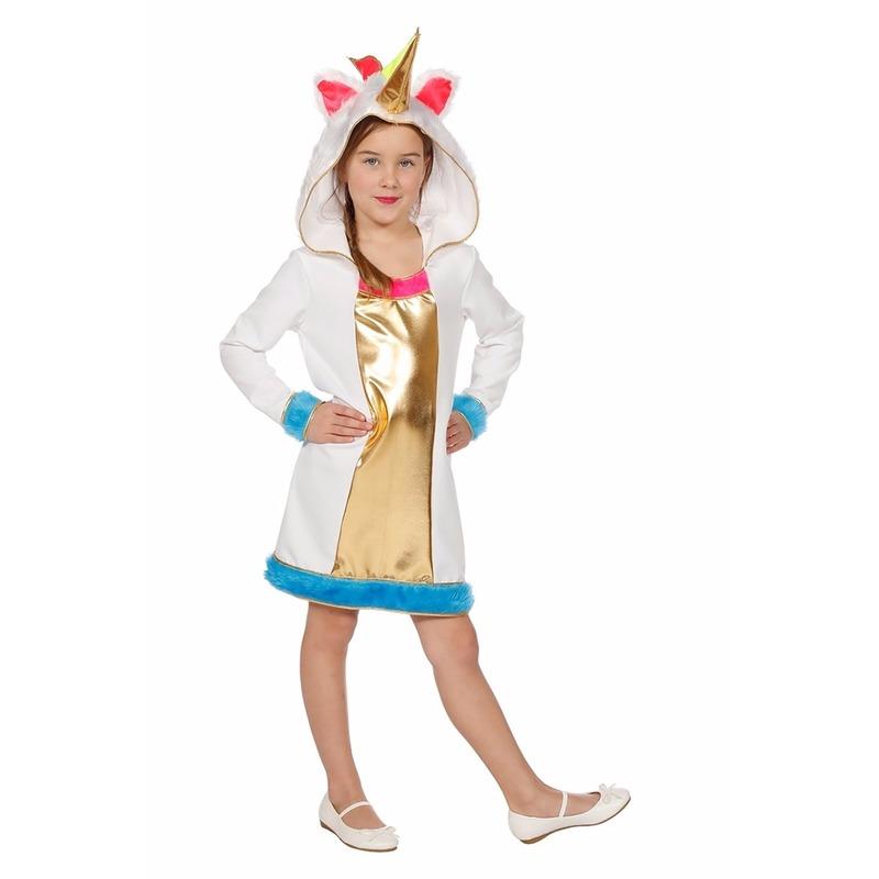 Eenhoorn dieren jurkje voor meisjes 104 Multi