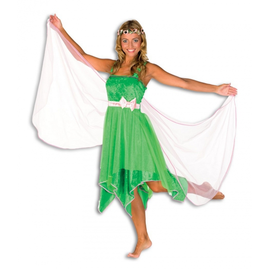 Elfjes jurk groen dames 42 (XL) Groen