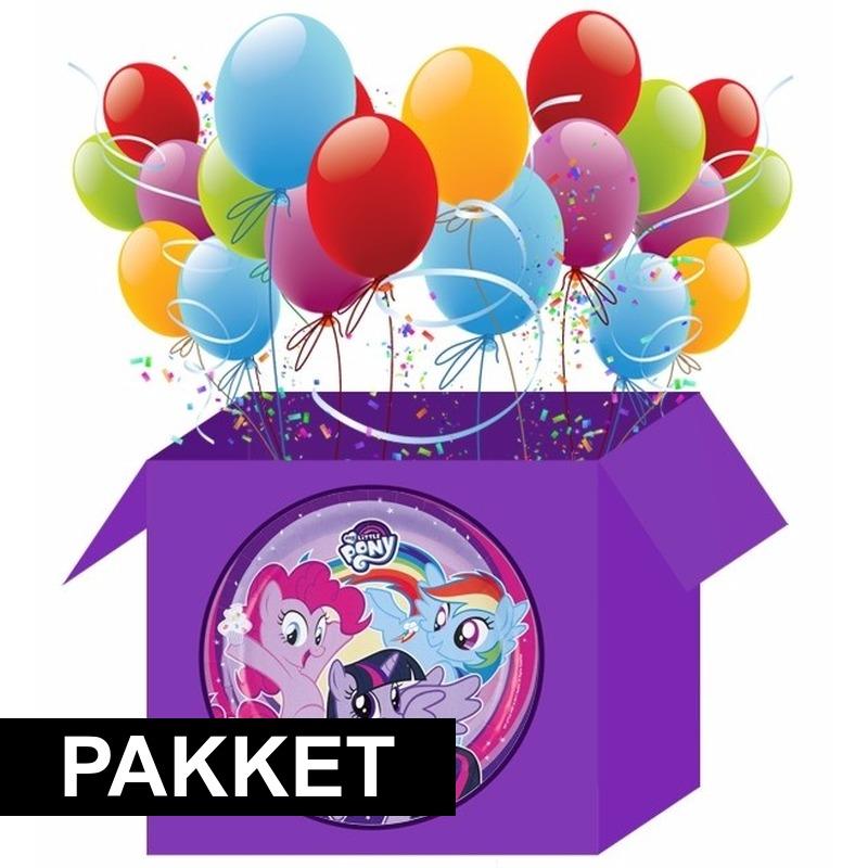 Feest My Little Pony versiering pakket voor kinderfeestje Multi