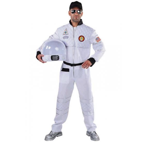 Feest/party astronauten pak/kostuum voor dames/heren 52-54 (M) Wit
