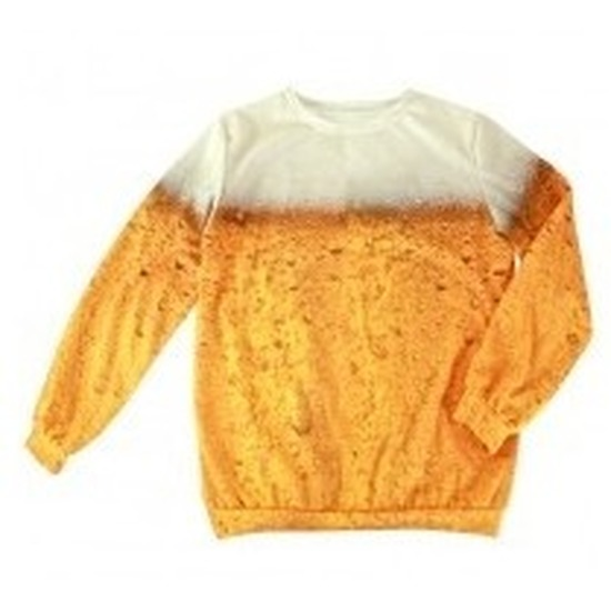 Feestkleding bierprint trui voor volwassenen 46-56 (2XL) Multi