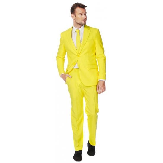 Fel geel maatpak voor heren 52 (XL) Geel