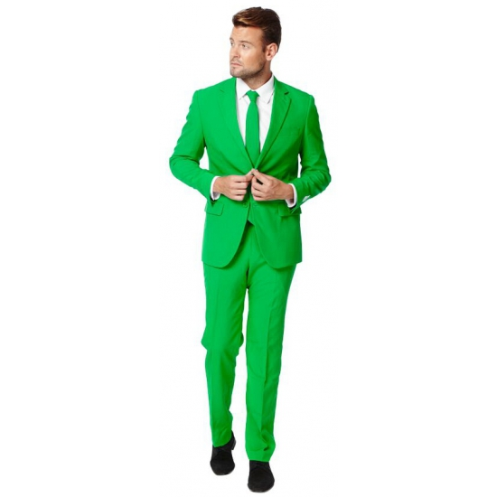 Fel groen St Patricksday kostuum heren 46 (S) Groen