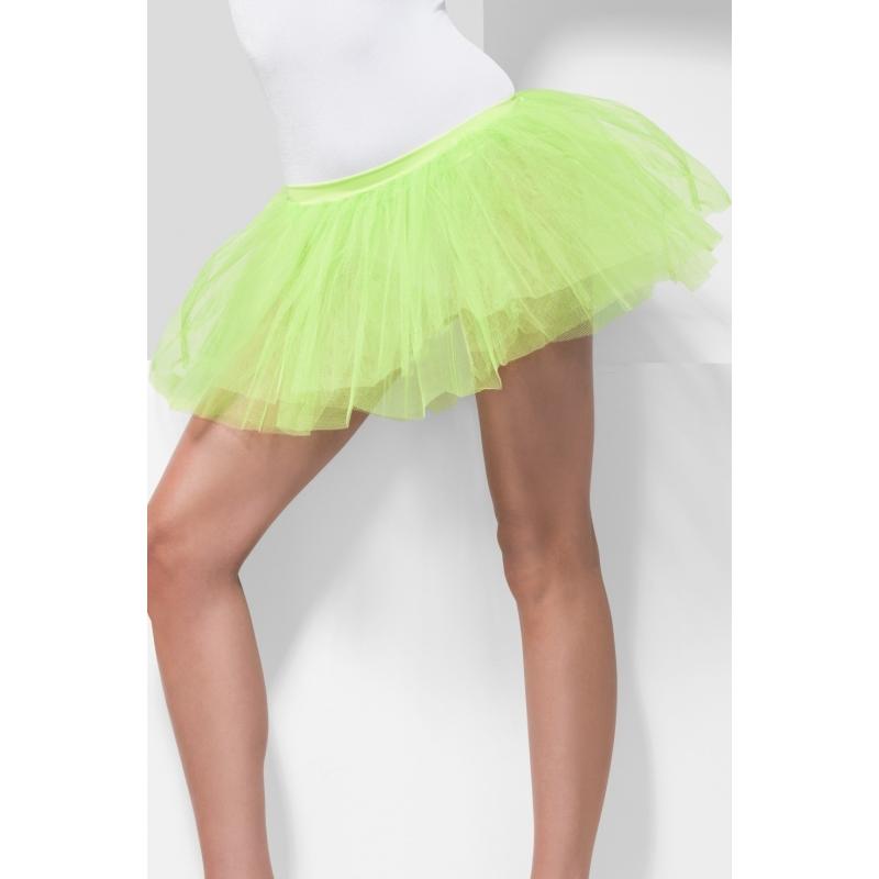 Fel groene petticoat tutu voor dames S/M Groen