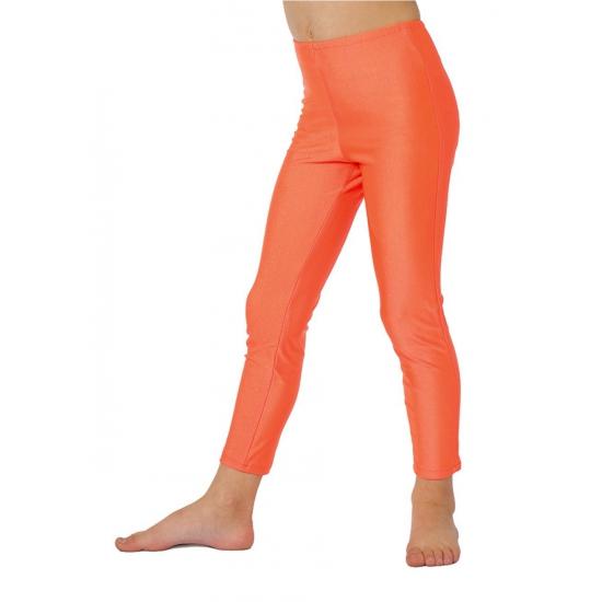Fel oranje kinder legging 140 Oranje