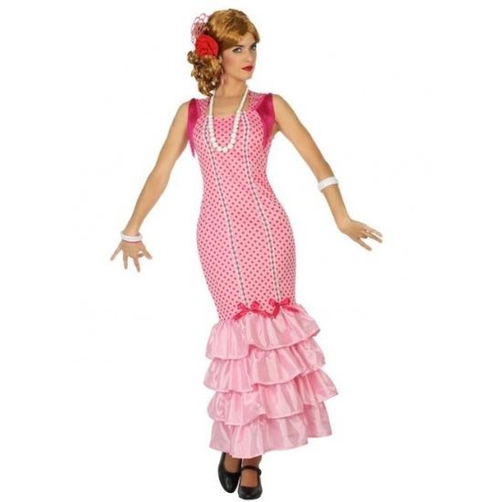 Flamenco danseres jurk roze voor dames M/L (38-40) Roze