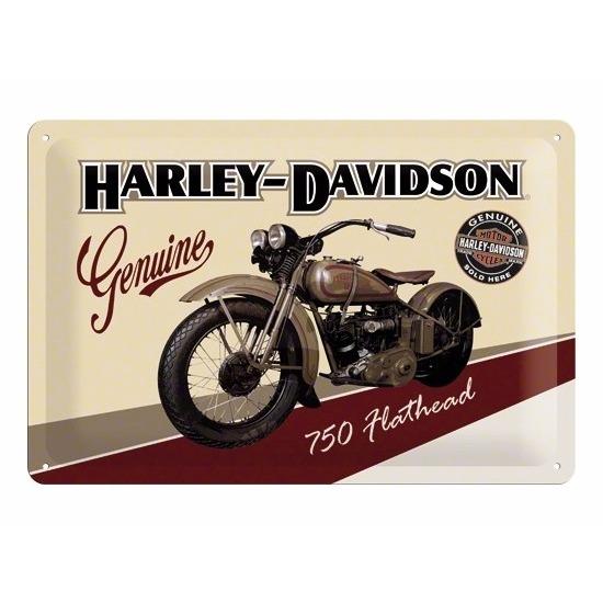 Flathead Harley Davidson muurposter van metaal -