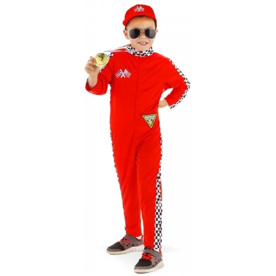 Formule 1 kostuum voor kinderen M (116-134) Rood
