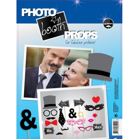 Foto booth props voor een bruiloft Multi