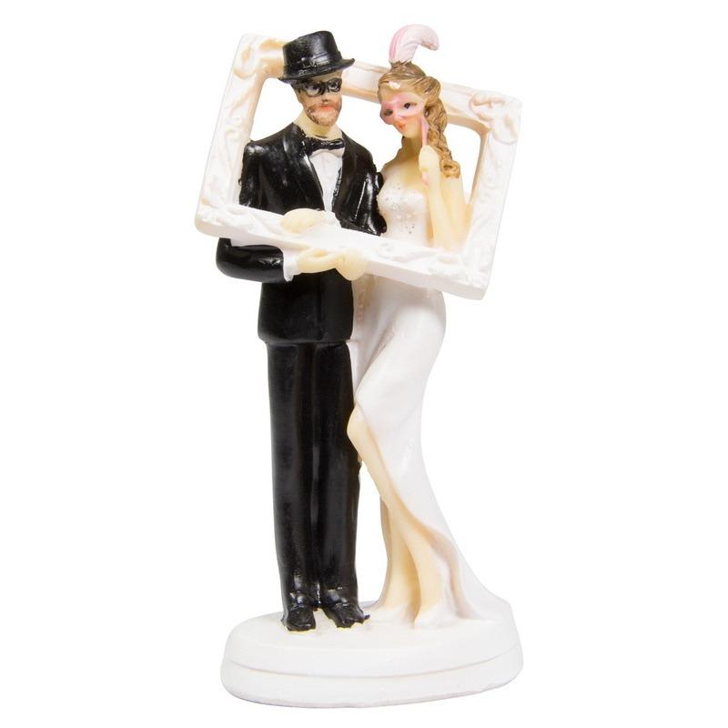 Fotolijst bruidstaartdecoratie 14cm Multi