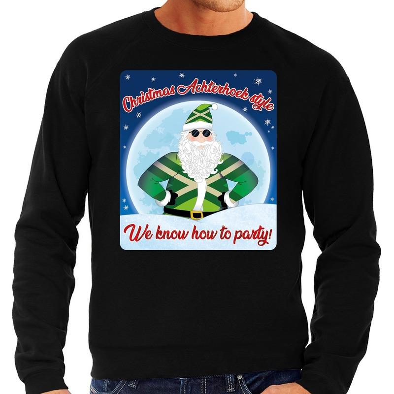 Foute Achterhoek kerstborrel trui / kersttrui christmas Achterhoek style zwart voor heren M (50) -