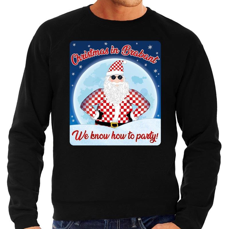 Foute kerstborrel trui / kersttrui christmas in Brabant zwart voor heren XL (54) Zwart