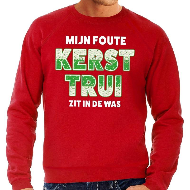 Foute kerstborrel trui / kersttrui Mijn Kersttrui zit in de was rood voor heren XL (54) Rood