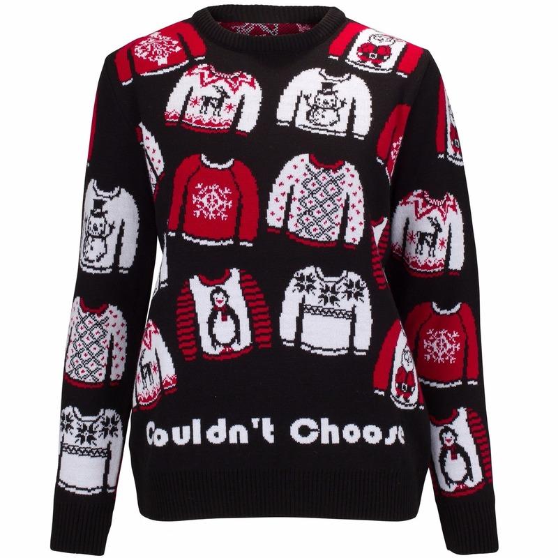 Foute kersttrui Could not choose voor dames L (40) Multi