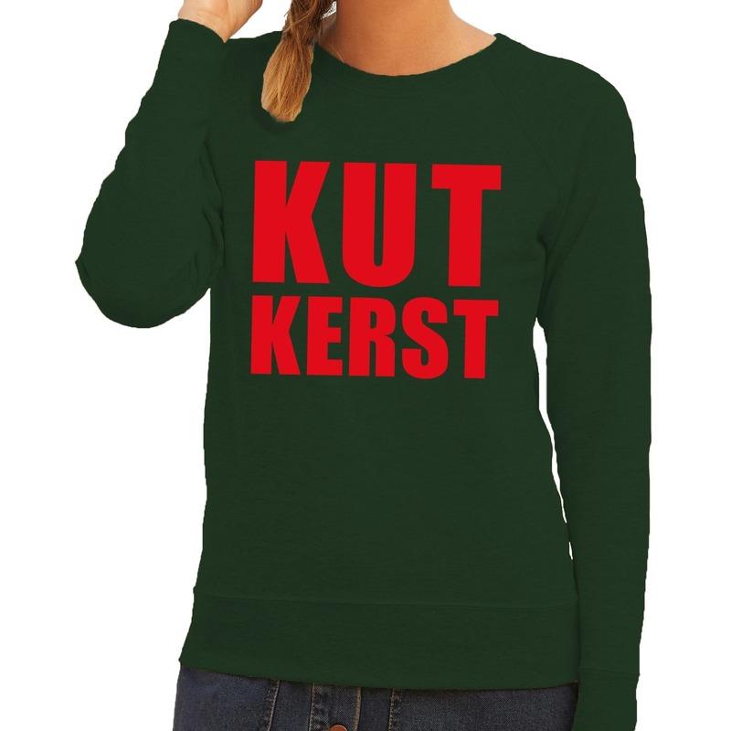 Foute kersttrui groen Kutkerst dames XS (34) Groen