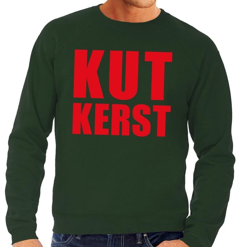 Foute kersttrui groen Kutkerst heren M (50) Groen