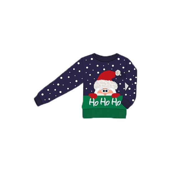 Foute kersttrui Ho Ho Ho voor kids 116-122 Blauw