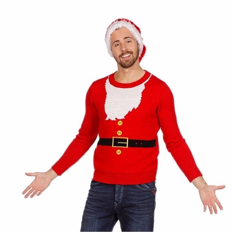 Foute kersttrui Kerstmannen pak voor heren 50 (M) -