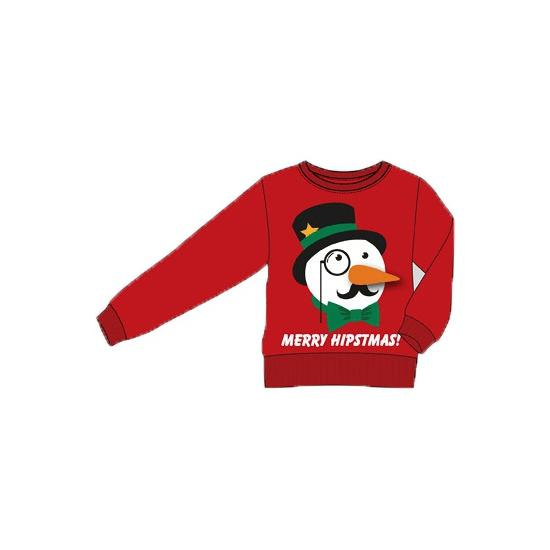 Foute kersttrui Merry Hipstmas voor volwassenen 2XL Rood