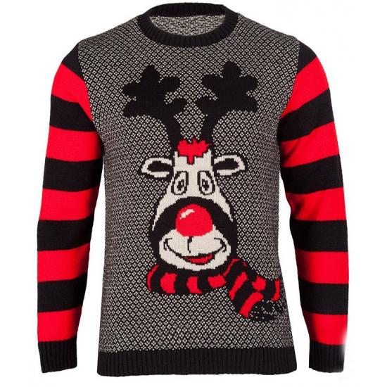 Foute kersttrui Rudy Reindeer voor dames Multi