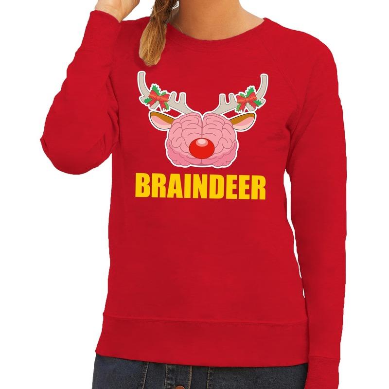 Foute kersttrui / sweater braindeer rood voor dames 2XL (44) Rood
