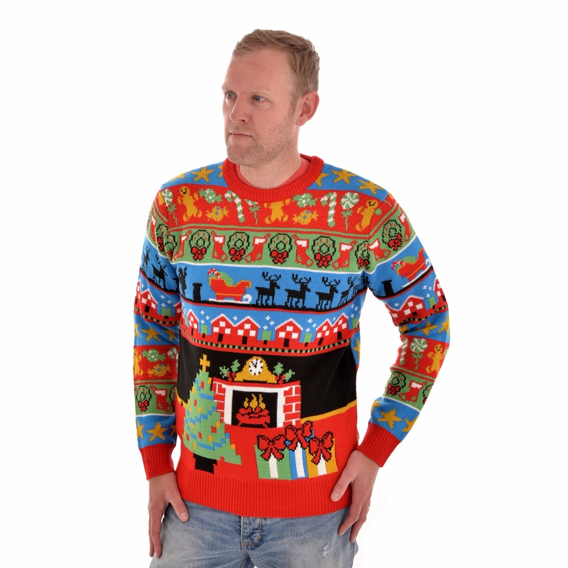 Foute kersttrui The Night Before Christmas 2XL (44/56) Multi