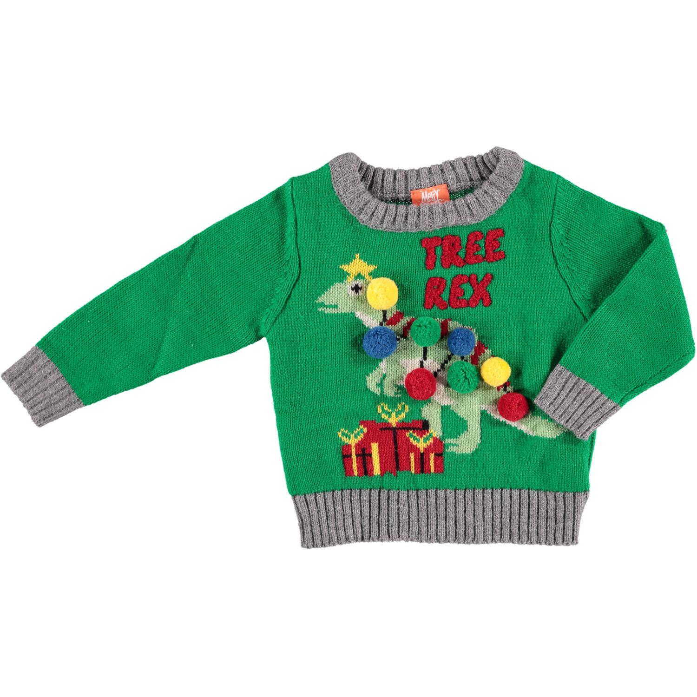 Foute kersttrui Tree-Rex voor baby 56/62 (1-4 mnd) -