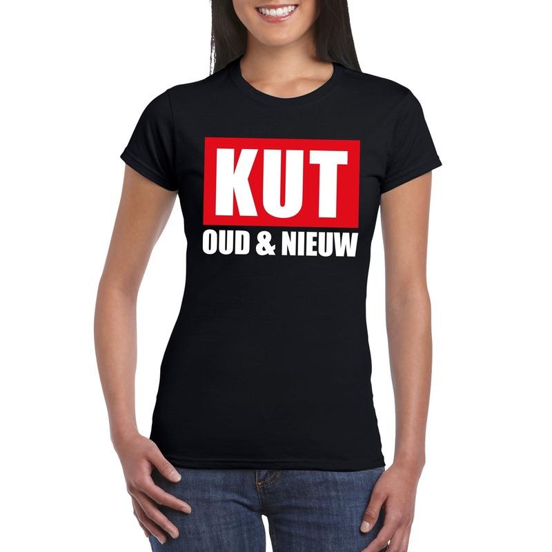 Foute oud en nieuw t-shirt kut oud en nieuw zwart voor dames