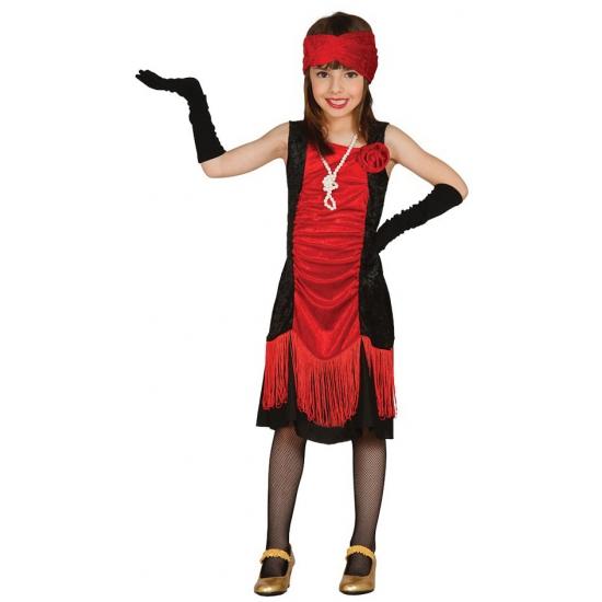 Gangster outfit voor meisjes 110-116 (5-6 jaar) Multi