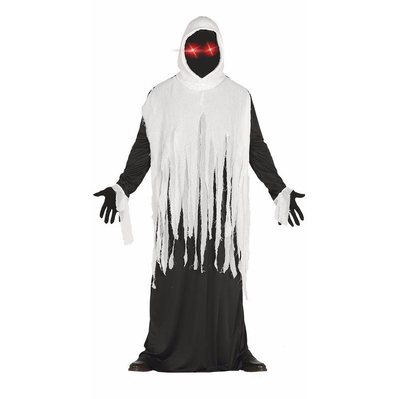 Geesten kostuum met lichtgevende ogen L (52-54) Multi