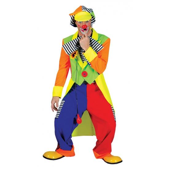 Gekleurd clownspak voor heren One size Multi