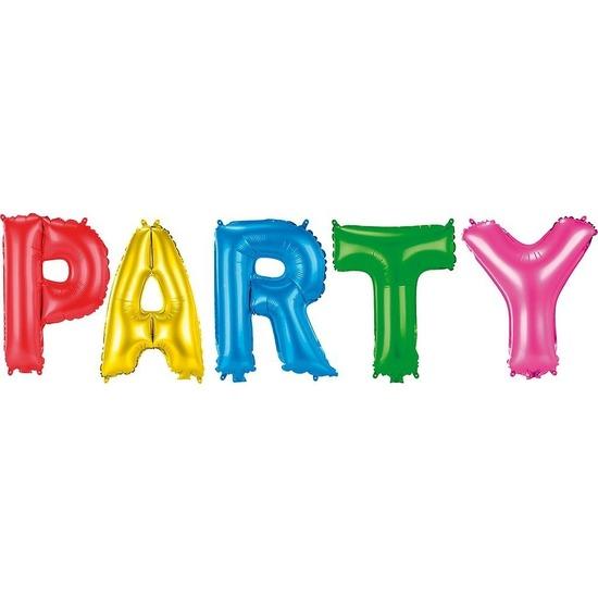Gekleurde folieballonnen Party set Multi