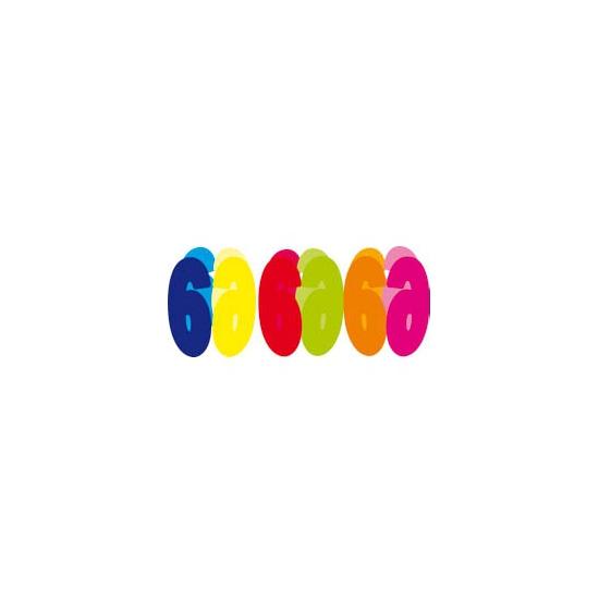 Gekleurde papieren slinger 6 jaar