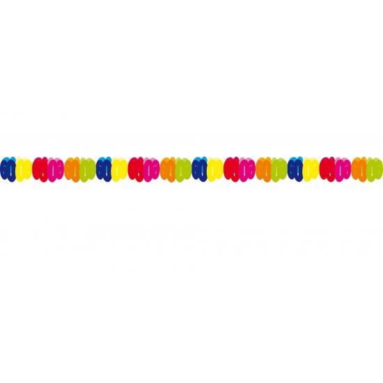 Gekleurde papieren slinger 60 jaar Multi
