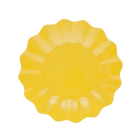 Gele diepe wegwerp bordjes 27 cm Geel