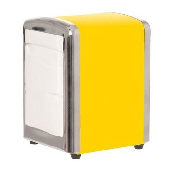 Gele servettenhouder 14 cm Geel