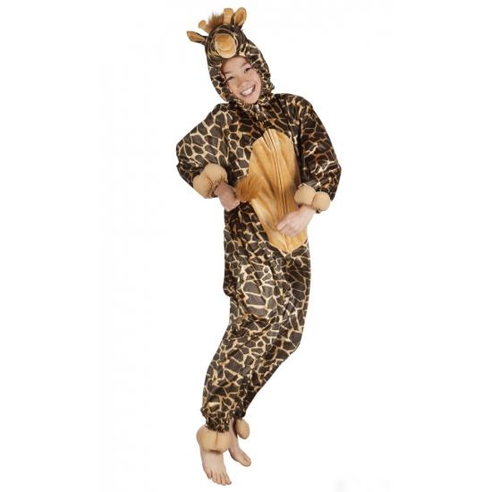 Giraffe onesie dierenpak kind 164 Bruin