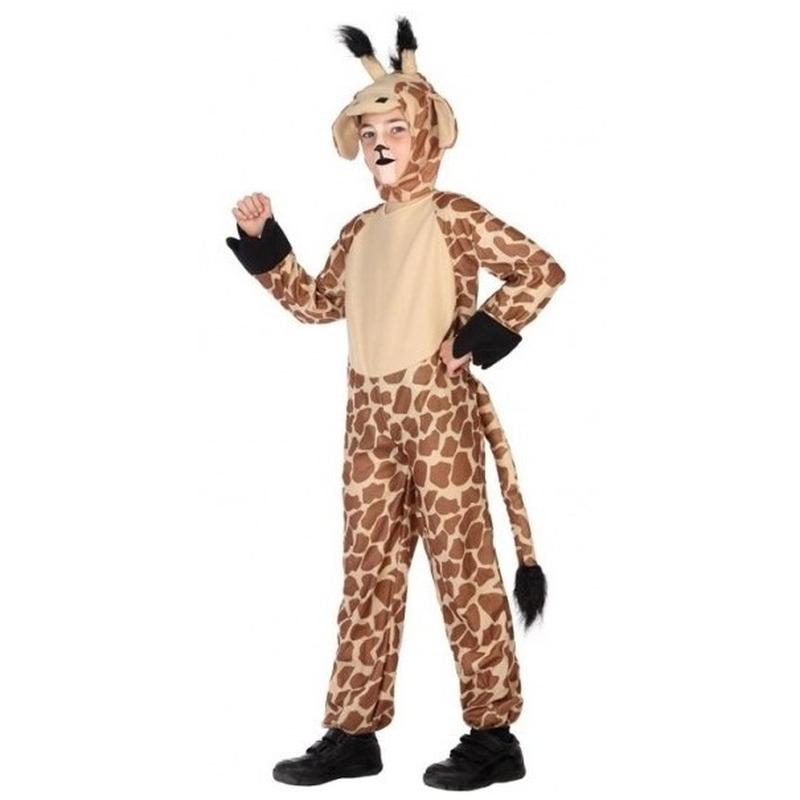 Giraffe onesie verkleedset voor kinderen 104 (3-4 jaar) Bruin