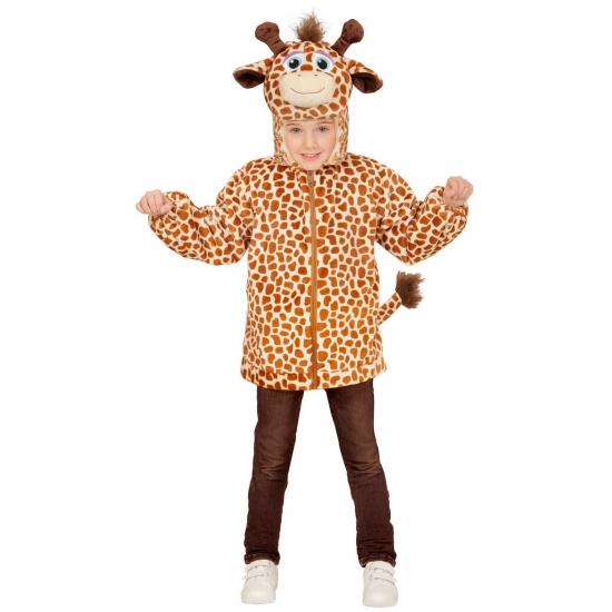 Giraffe verkleedkleding trui voor kinderen 110 Bruin