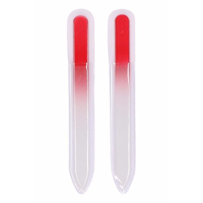 Glas nagelvijl rood 2 stuks -