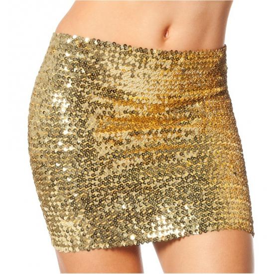 Glitter topje voor dames XL Goudkleurig