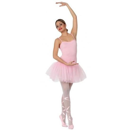 Goedkope ballet danseres verkleed jurkje voor dames M/L (38-40) Roze