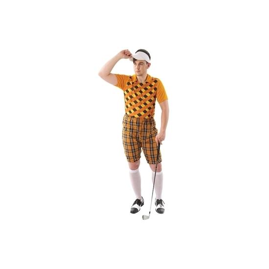 Golfers kostuum oranje voor heren 48-50 (M) Oranje