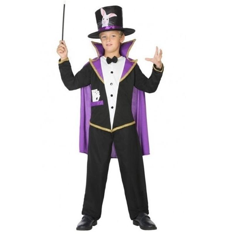 Goochelaar carnavalskleding verkleedpak 140 (10-12 jaar) Multi