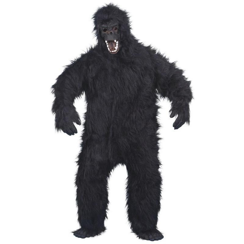 Gorilla apen verkleedkleding voor volwassenen One size Zwart