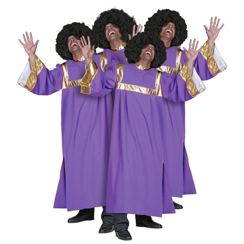 Gospel verkleedkleding 54 (XL) Paars