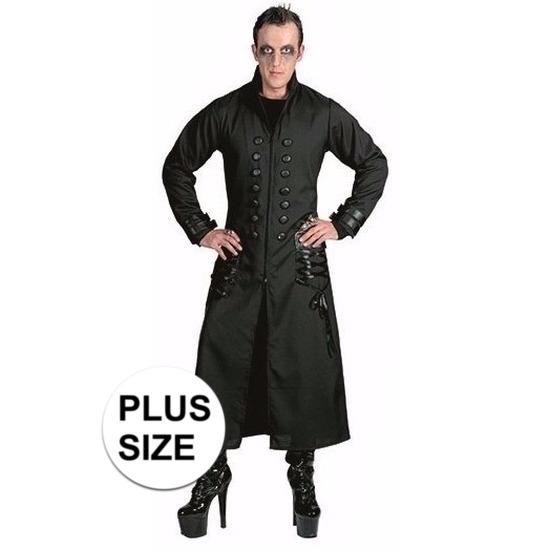 Gothic/dracula/vampier mantel kostuum voor heren 56-58 (2XL/3XL) Zwart