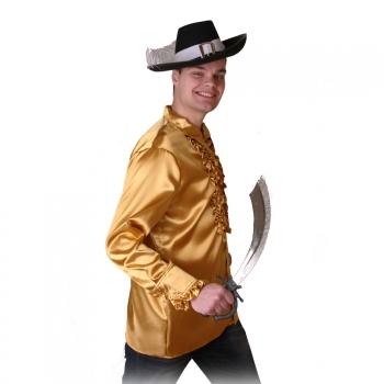 Goud heren piraten overhemd Goudkleurig