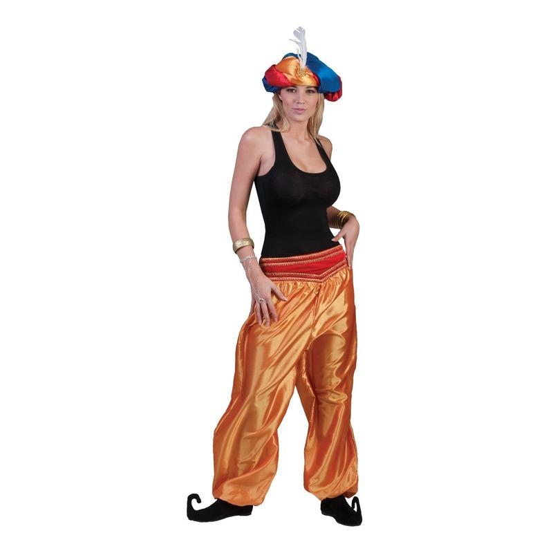 Gouden 1001 nacht broek voor dames One size Goudkleurig