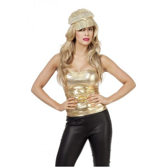 Gouden dames top 38 (M) Goudkleurig